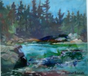 Portage, French River, Ontario 17 18in acrylic