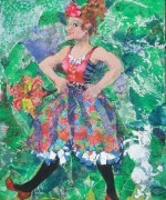 Tinkerbell mixed media 12 x 10in