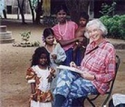 with siomne gipsy children at mettupalayam