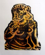 hindu goddess litho,34in x 26in